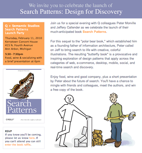 Search Patterns Book Launch Party Invite